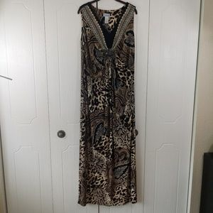 Catherines Animal Print Maxi Dress Size 1X